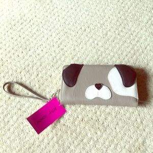 Cute dog wallet from Betsey Johnson no eyes